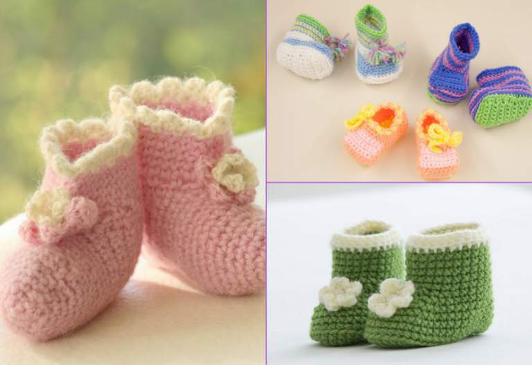 30+ Free Crochet Patterns for Baby Booties