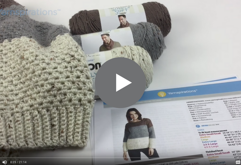 Video Tutorial: How to Crochet the Stepping Stones Pullover